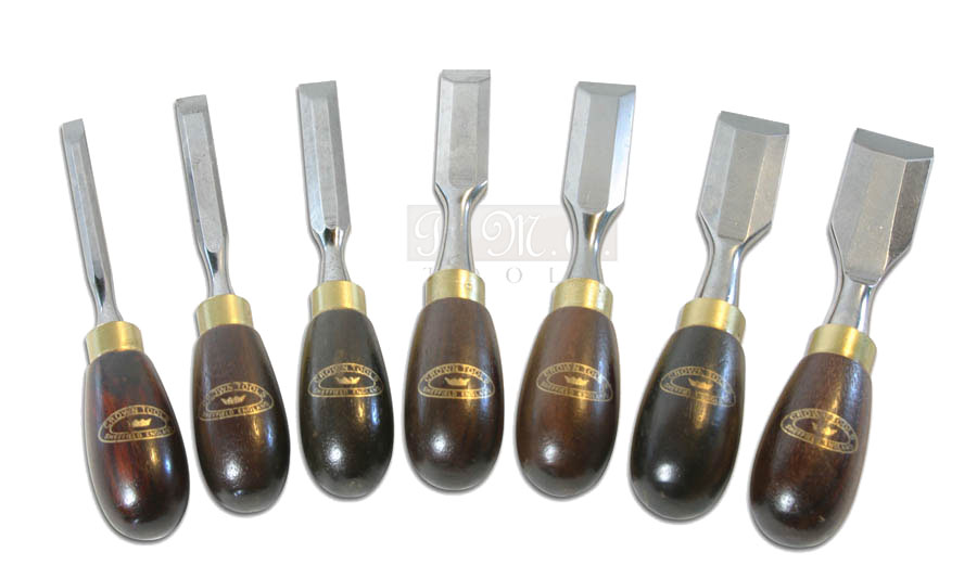 Set scalpelli corti Butt Chisels Crown Tools