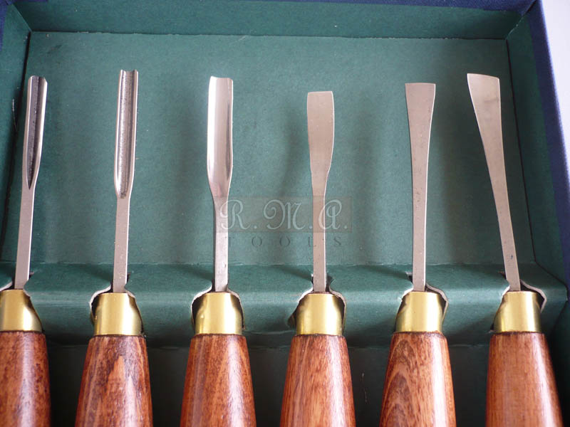 Set 6 sgorbie Mini Carving Gouges Crown Tools